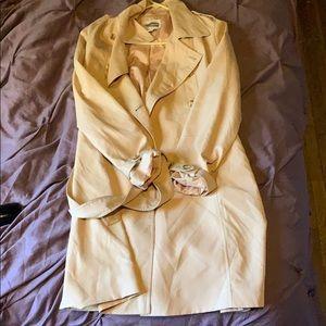 Tan lightweight trench coat